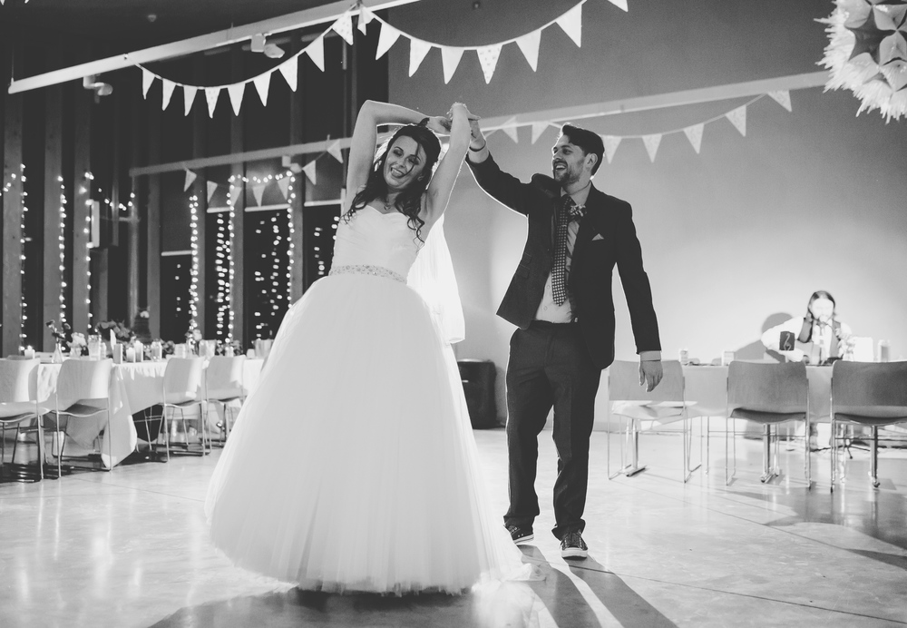 The bride and grooms first dance- Lancashire wedding photographer, documentary