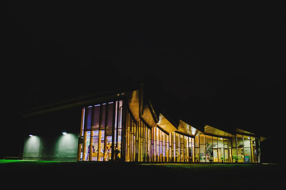 Night shot of the wedding venue of choice- Avenham Park Preston