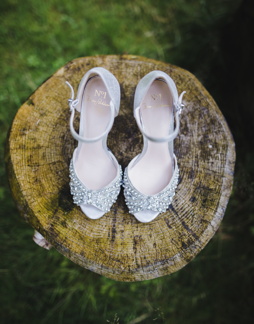 The bridal shoes if choice, relaxed wedding photographer