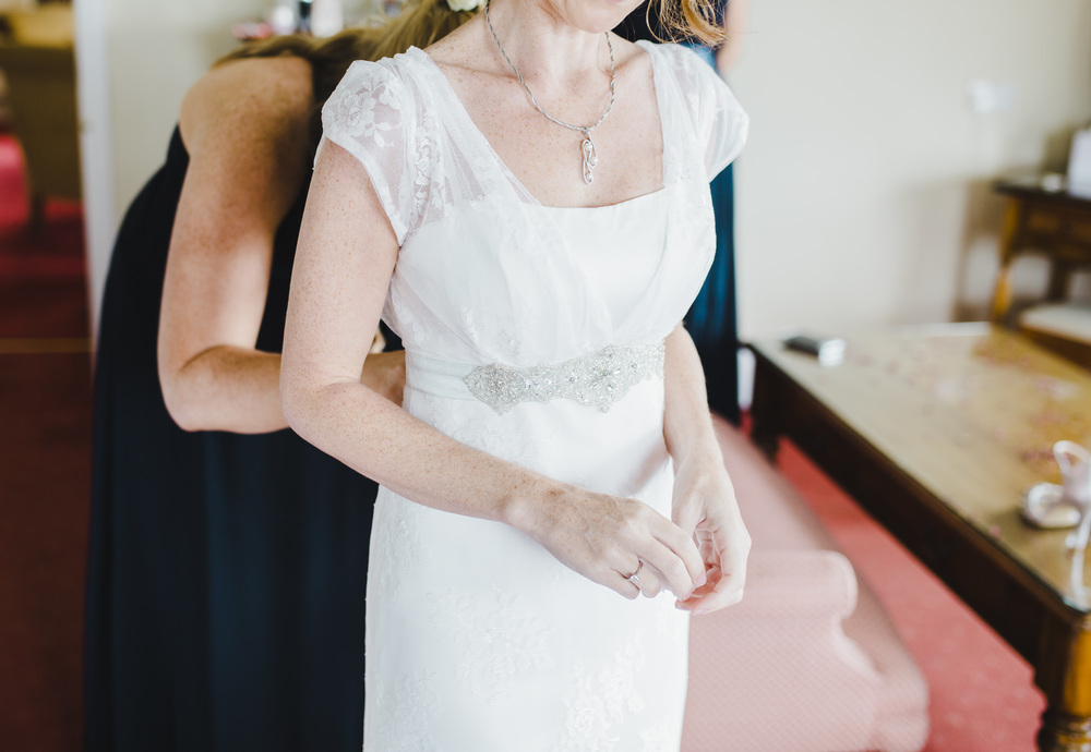 The detail of the wedding dress- Relaxed wedding photographer