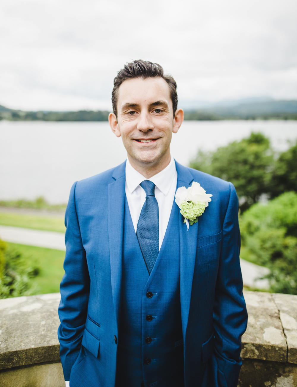 A portrait of the groom- Wedding photographer in the lake district