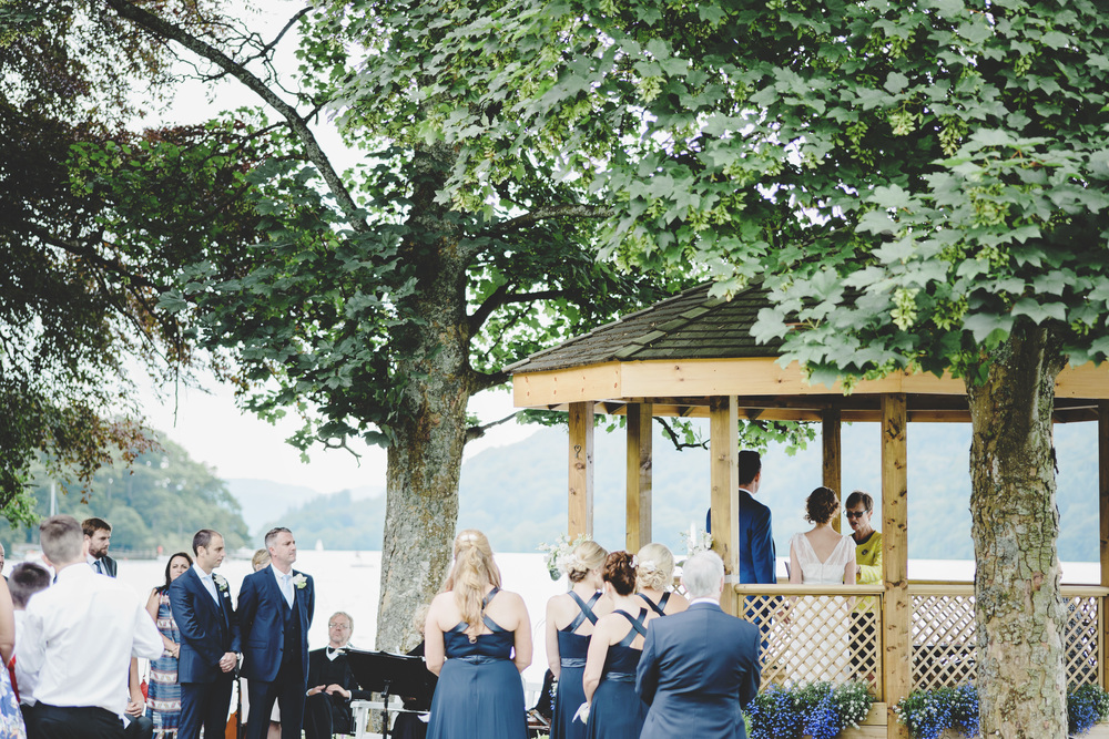 Outdoor wedding at the lake district- Relaxed wedding