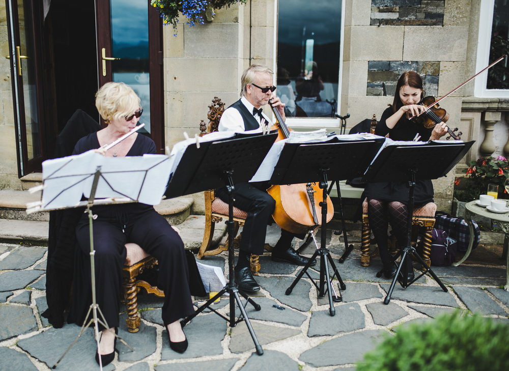 The music of choice for the lake district wedding