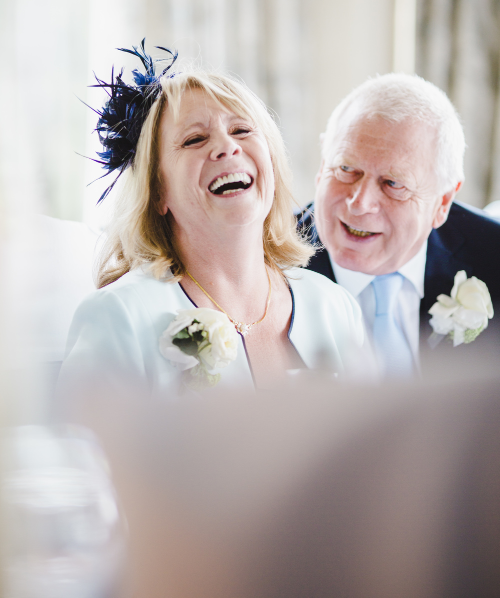 Laughter and smiles from the wedding guests- Lake district wedding