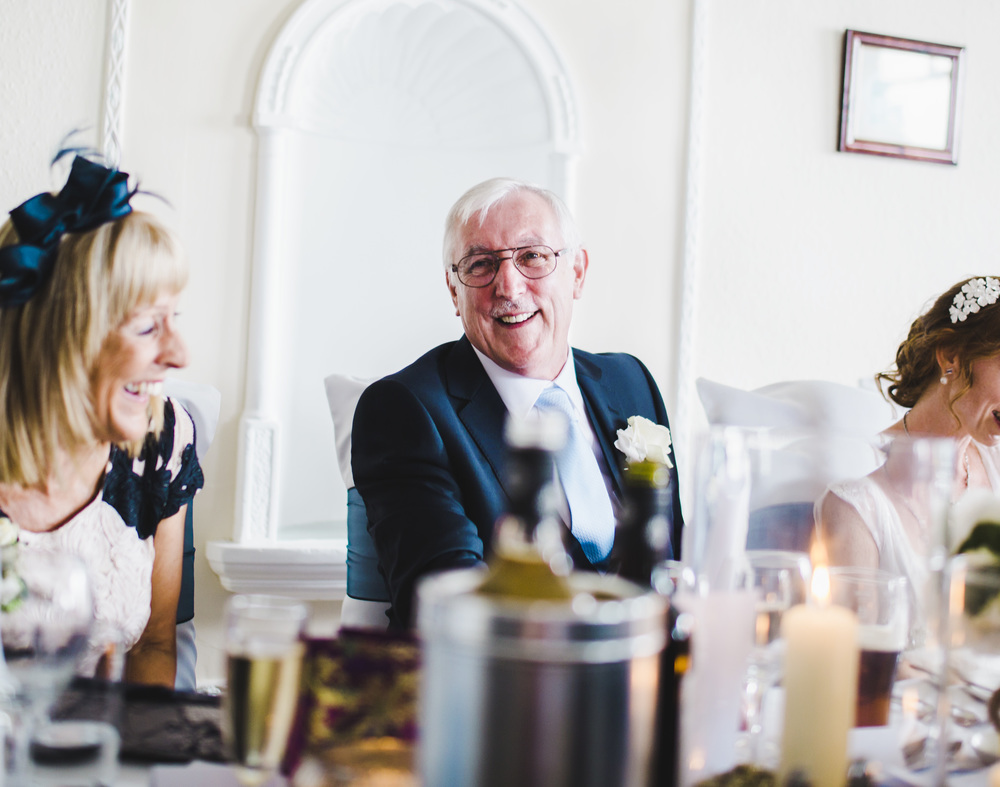 Happy wedding guests- Documentary wedding photographer, Lake district