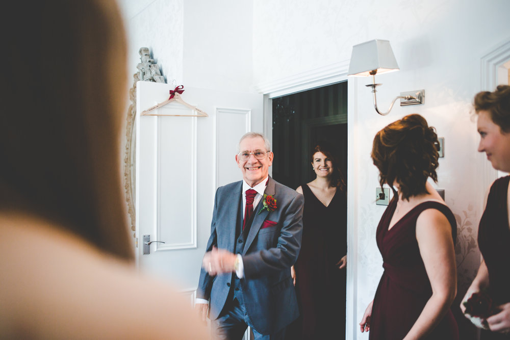 big grins from the father of the bride- Lancashire wedding photographer