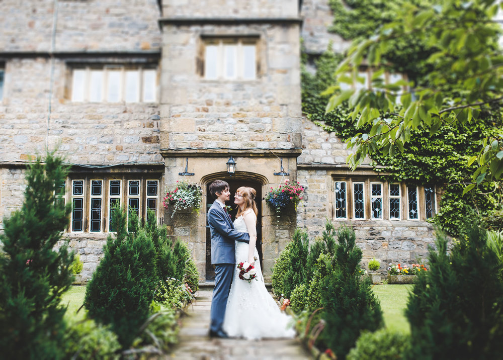 Creative photography of the bride and groom infant of the Stirk House Hotel- Creative photography in lancashire