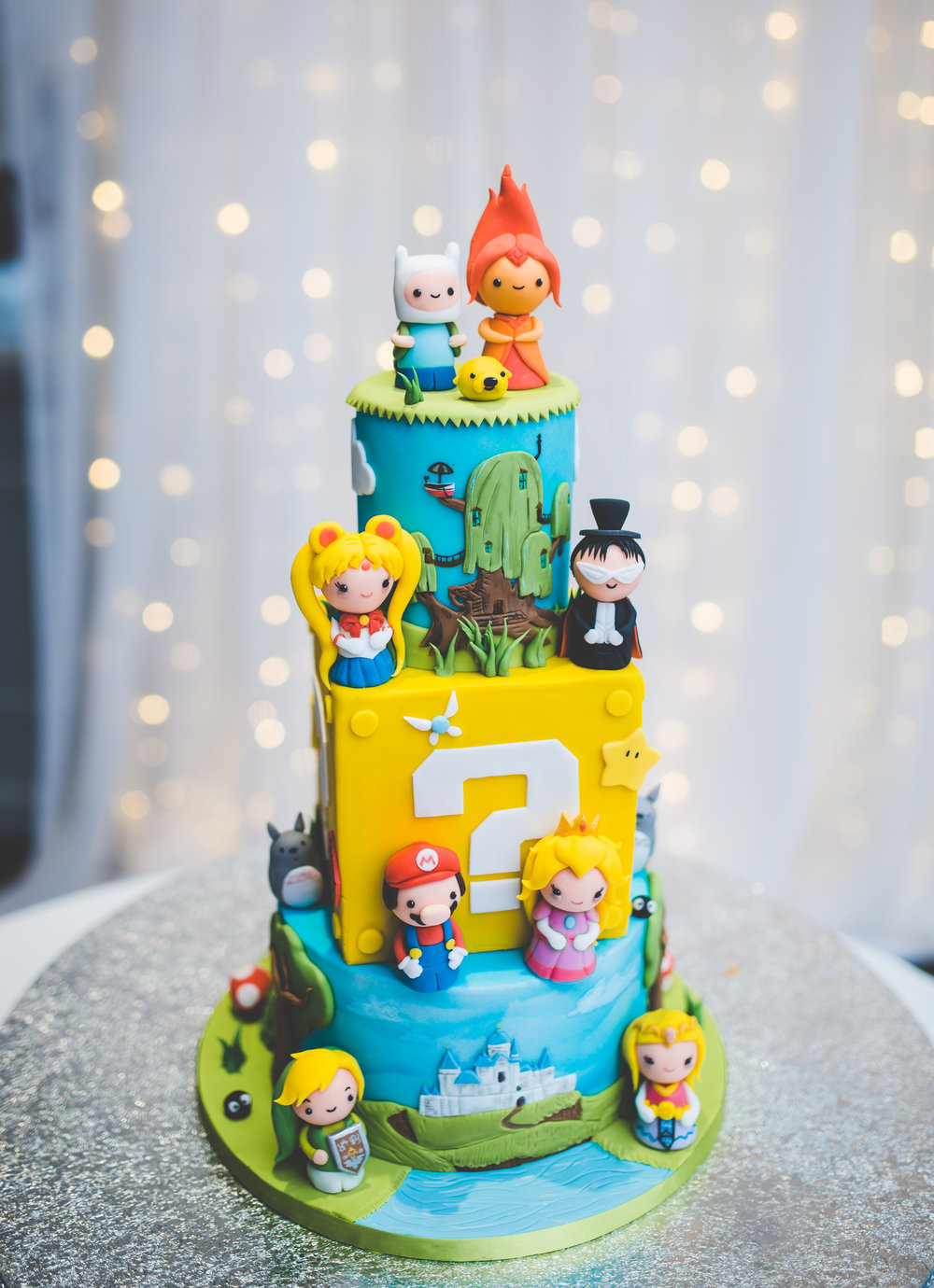 Retro game wedding cake- lancashire wedding