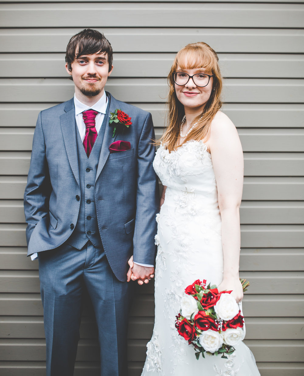 Portrait of the bride and groom- Documentary wedding photography Lancashire