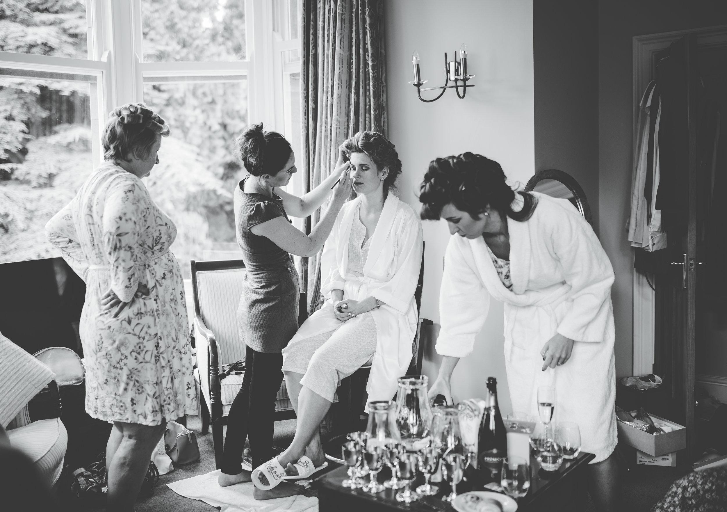 Bride getting ready - The Villa at Levens wedding