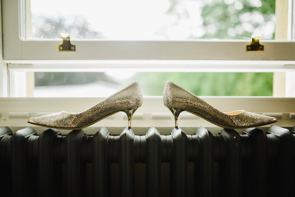 The shoes for the bride- relaxed wedding