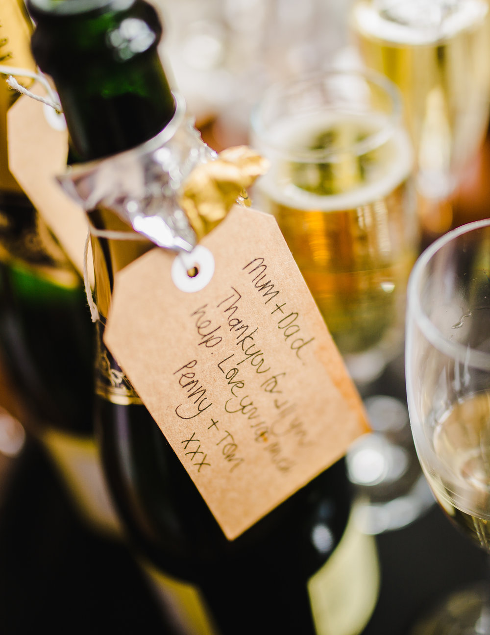Champagne gift for the bride- Wedding photographer Lake District