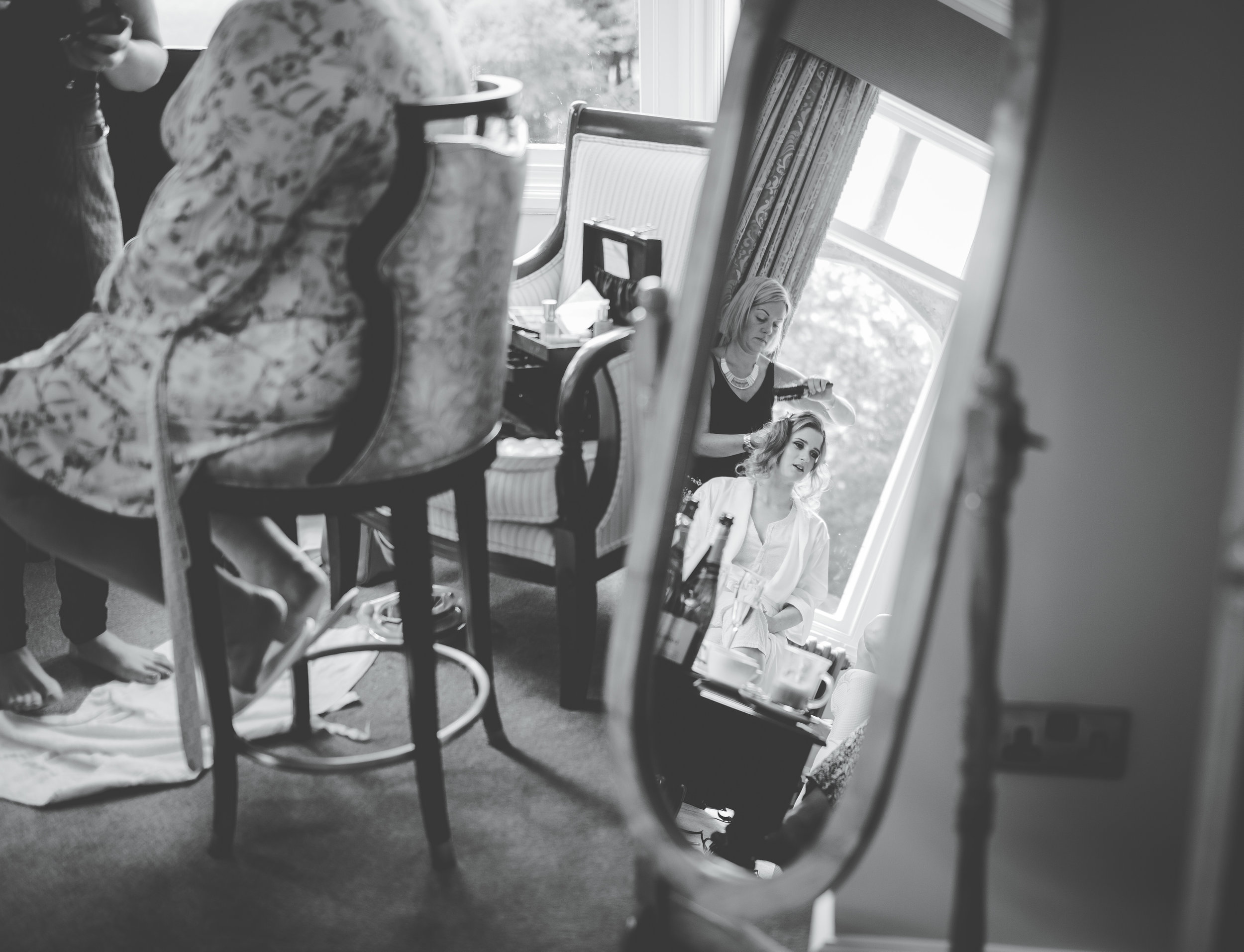 Creative wedding photography in the Lakes - getting ready