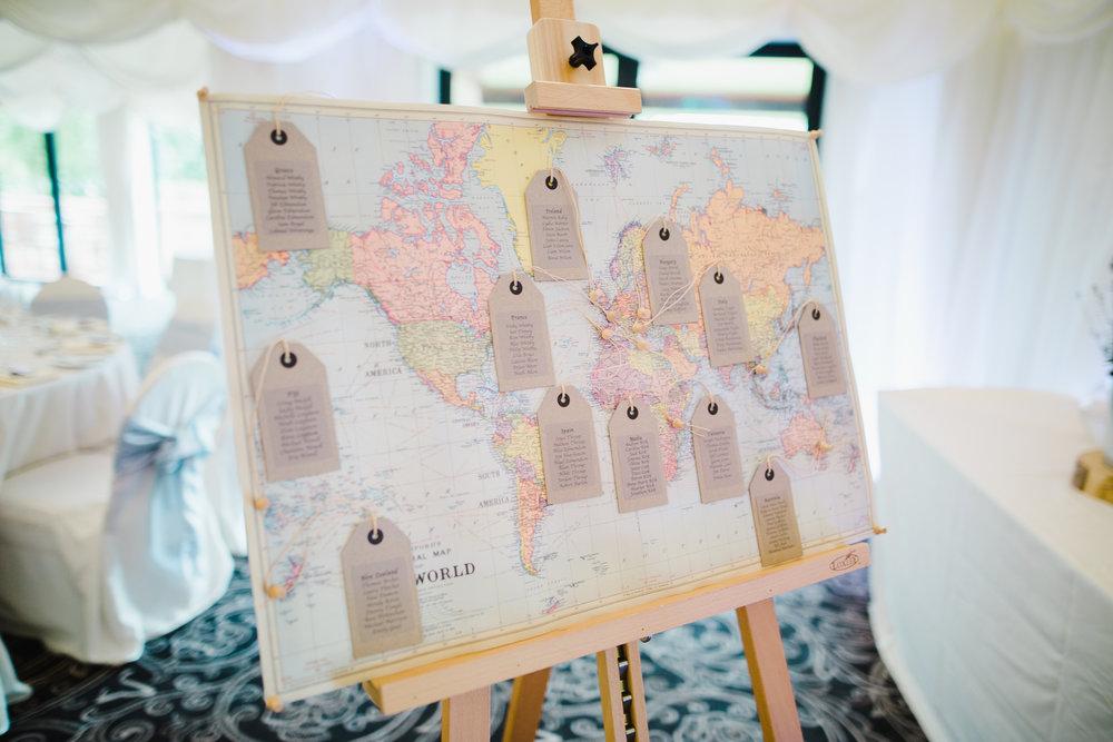 Handmade eating chart for the wedding at Villa at Levens
