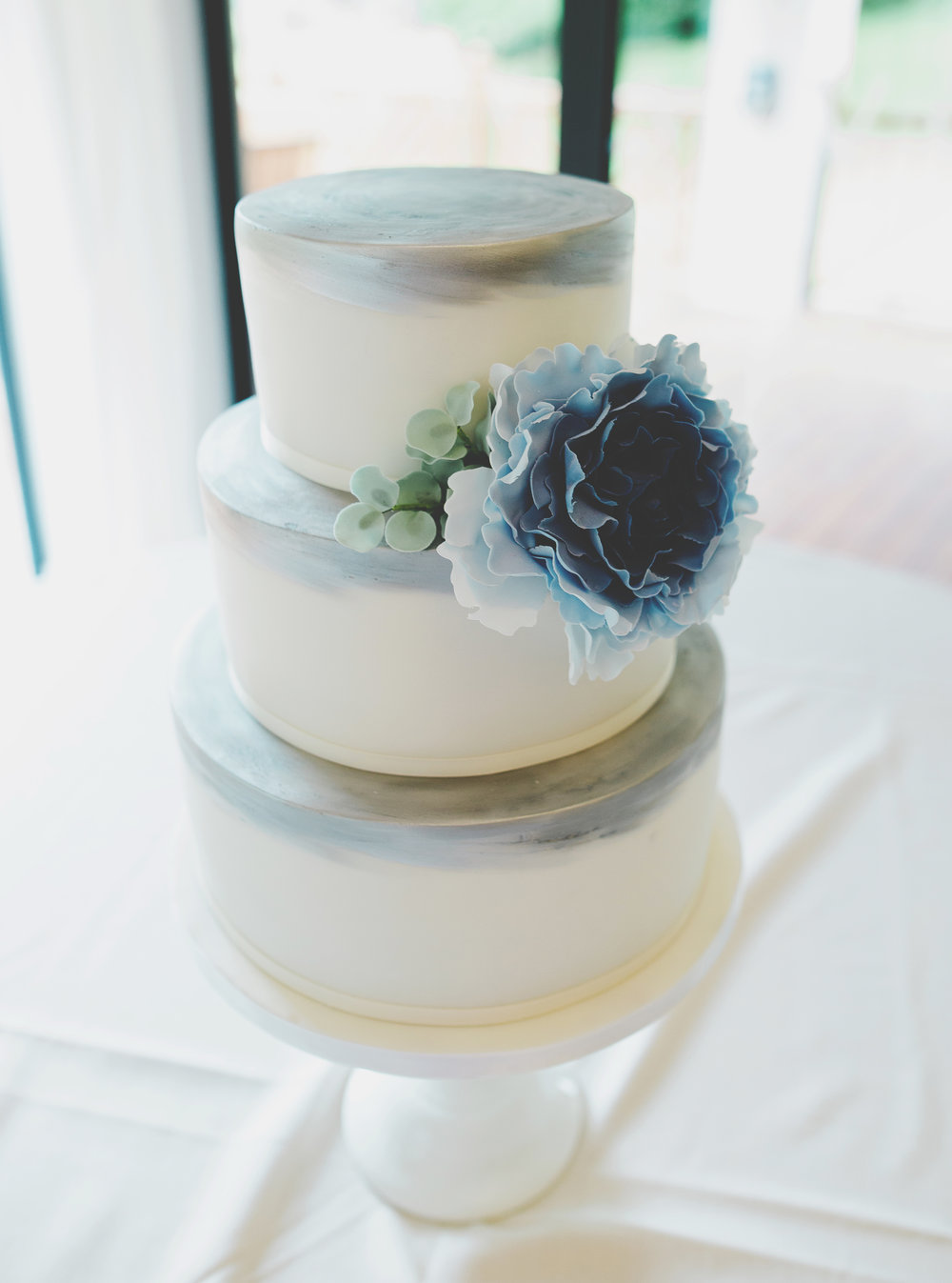 White wedding cake, Lake district wedding, Villa at Levens