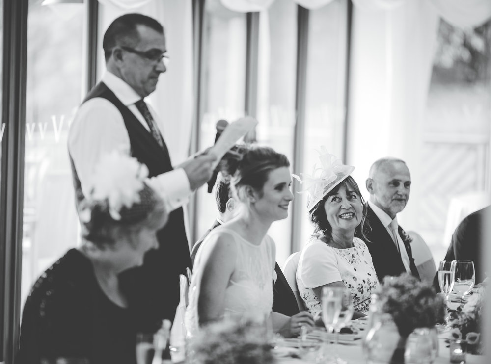 Wedding speeches, Black and white photography