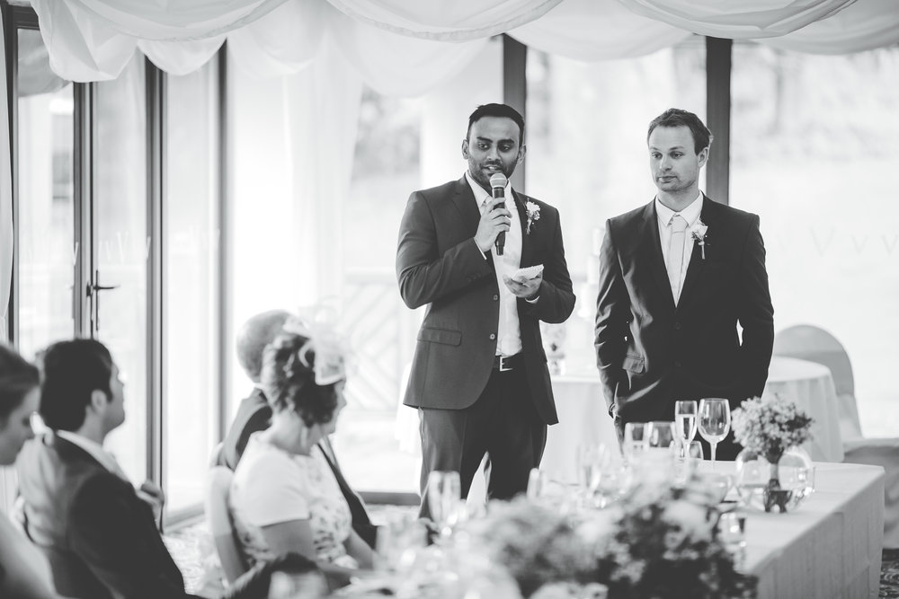 Documentary photograph of the wedding speeches for the Lake District wedding