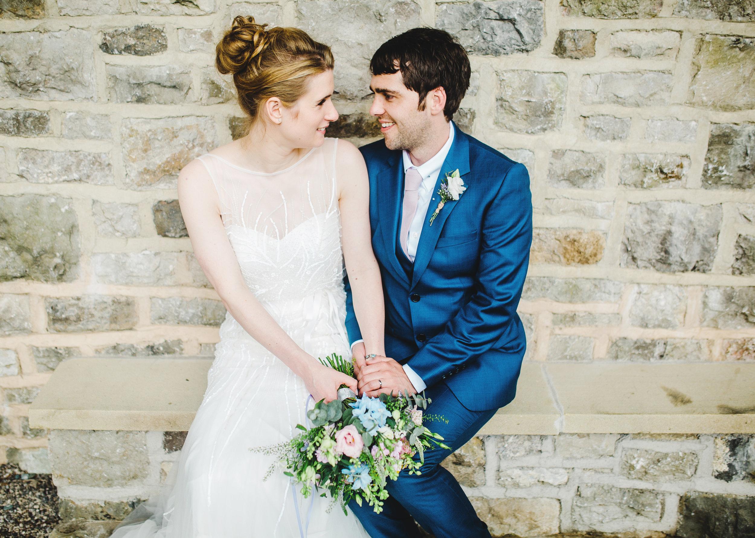 Villa at Levens - bride and groom portraits -
