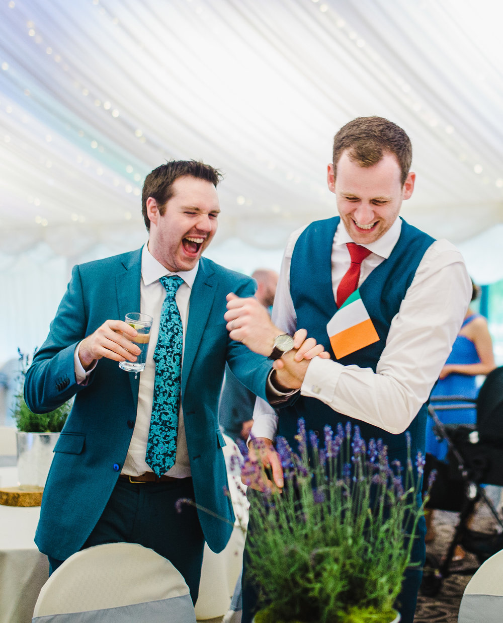 Laughter from the wedding guest for the Lake District wedding