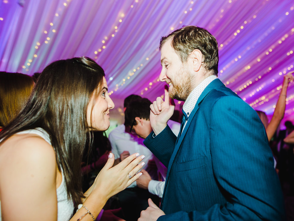 Wedding guest hitting the dance floor at Villa at Levens