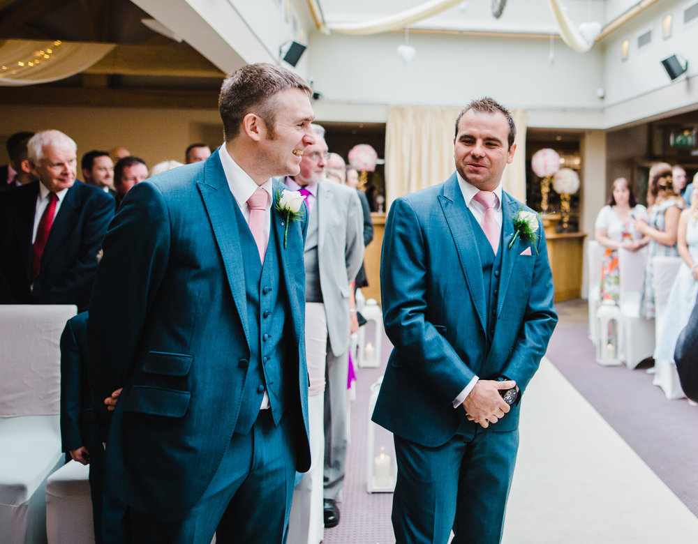 The groom waiting at the alter for his bride- Documentary photo