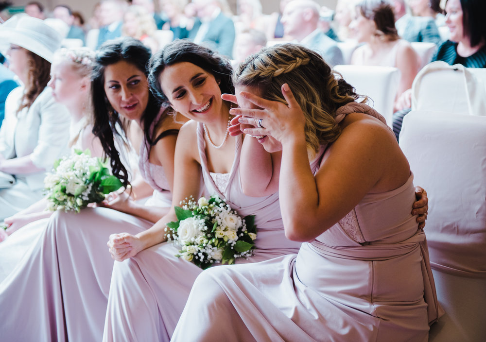Tears from one of the bridesmaids- Handmade wedding, manchester