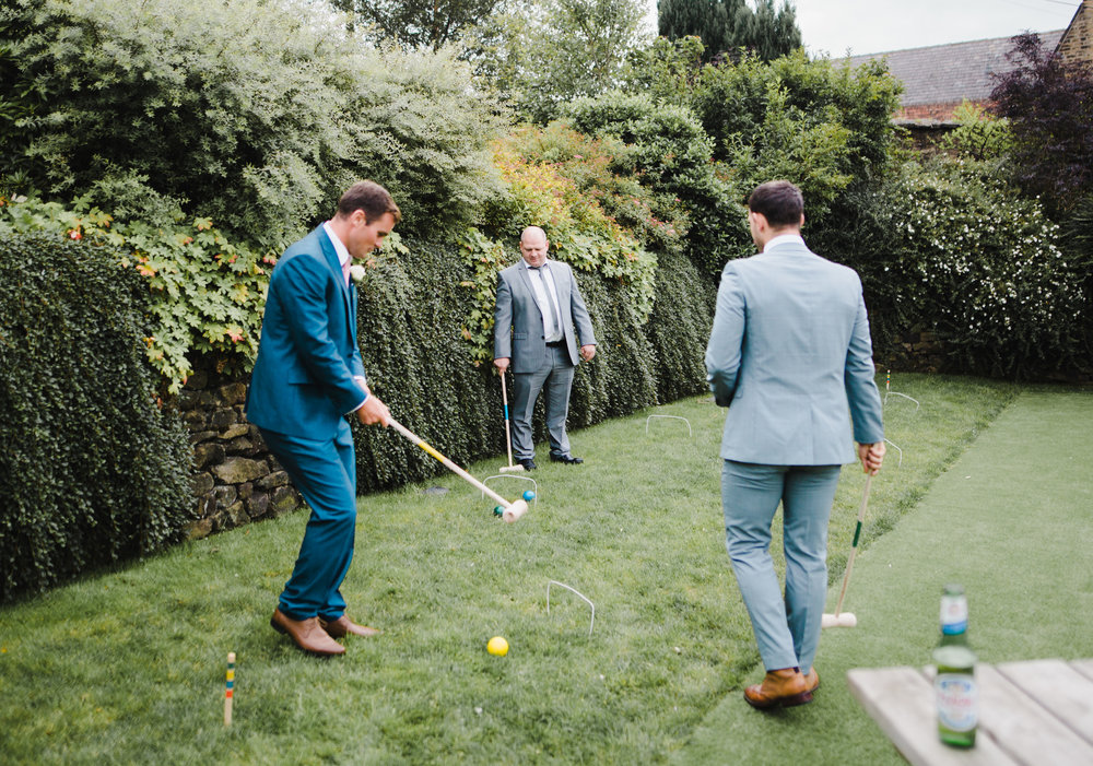 A game of croquet at The White Hart Inn at Legate wedding venue
