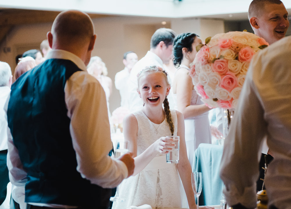 Smiles from the wedding guest- Lancashire wedding photographer