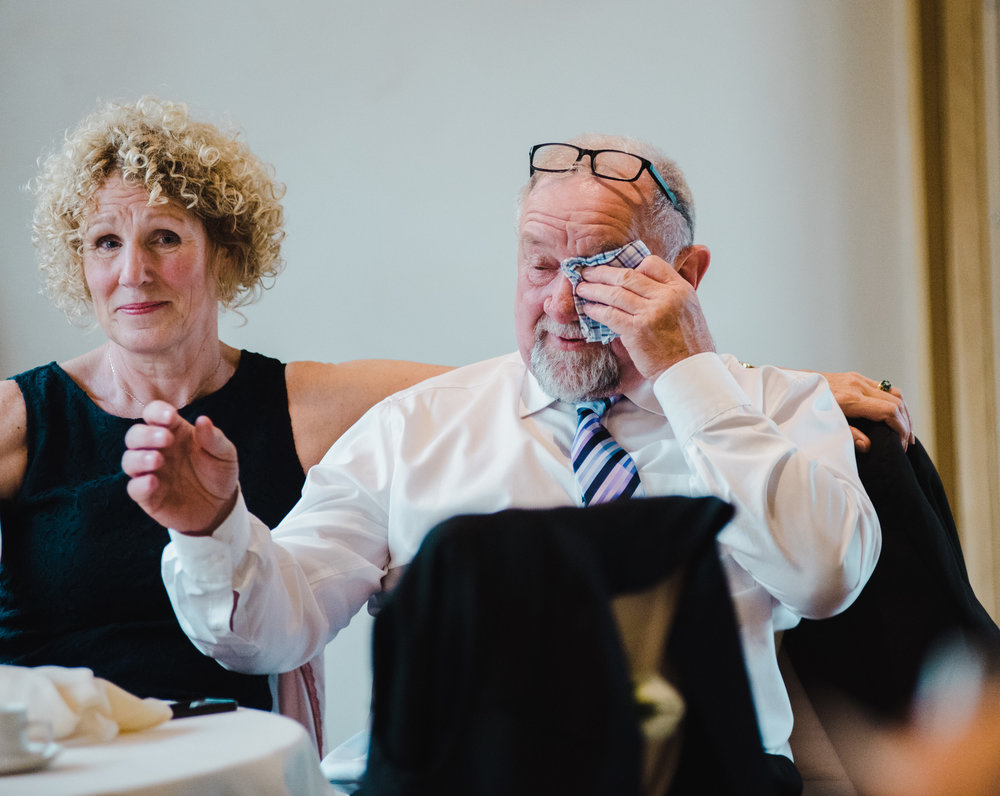 Tears from a wedding guest at the manchester wedding, The White Hart Inn at Lydgate
