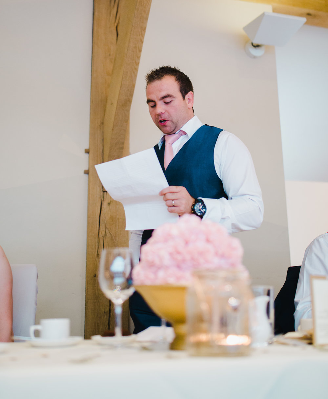 The bestman reading his speech which he had prepared- Lancashire creative wedding photographer