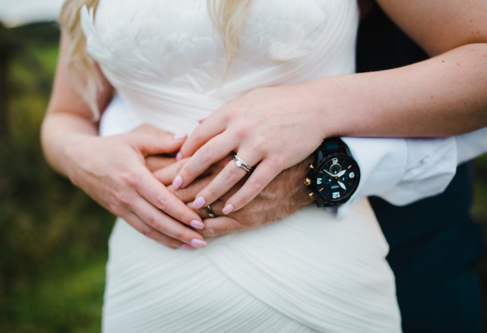 The detail of the rings and watch- creative wedding photography
