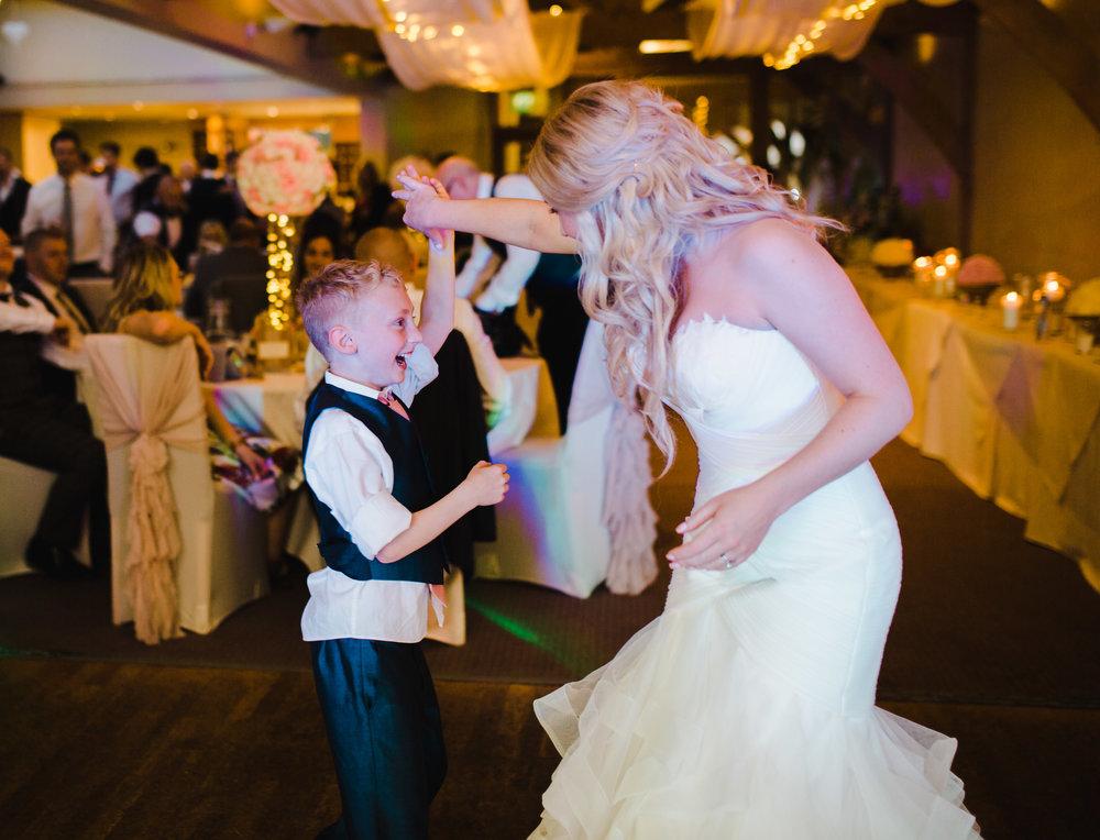 The bride on the dance floor- Modern fun wedding lancashire