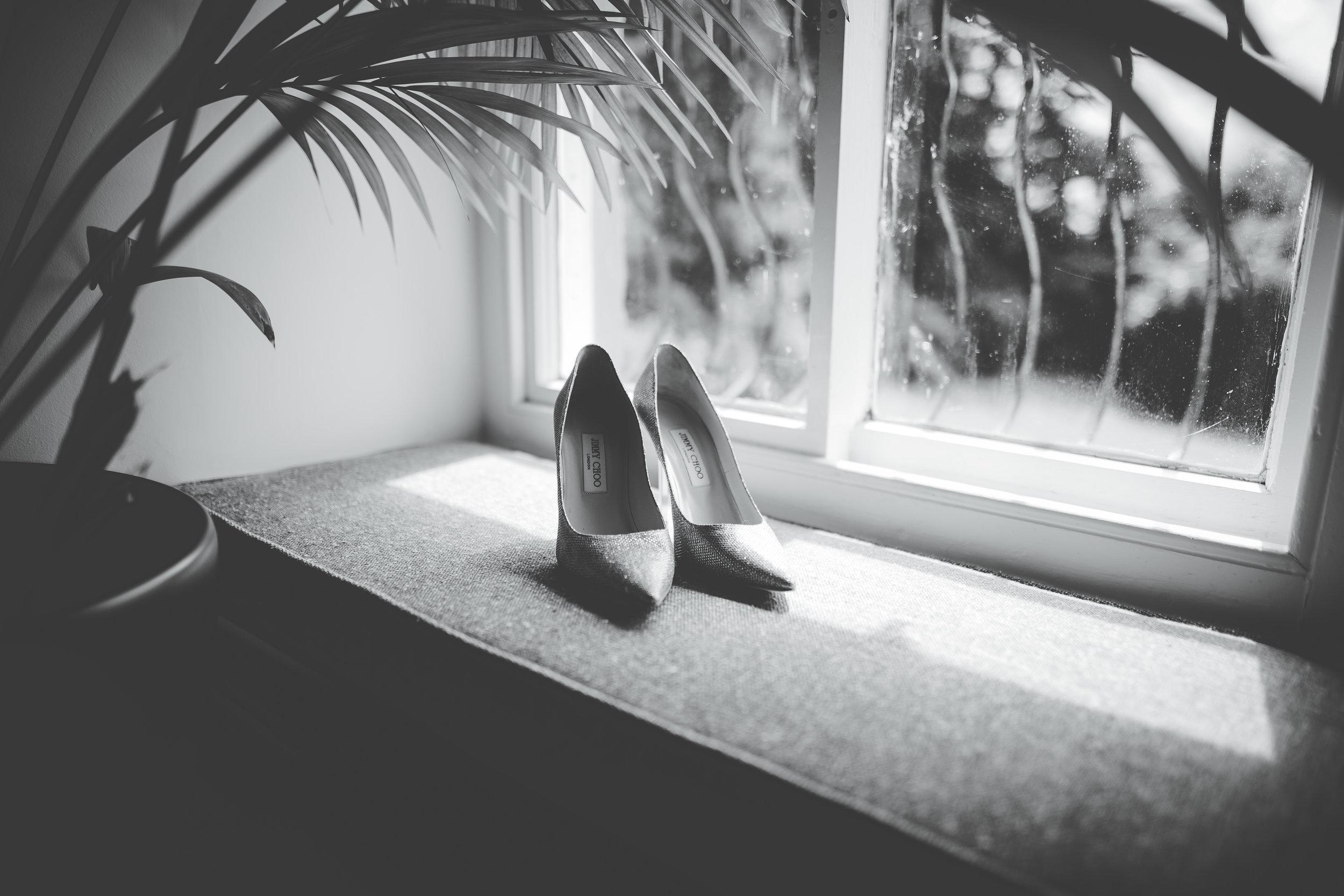 Jimmy Choo wedding shoes - Lake district wedding photographer