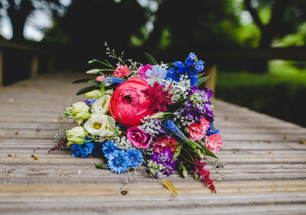 The colourful flower bouquet- Creative wedding photography