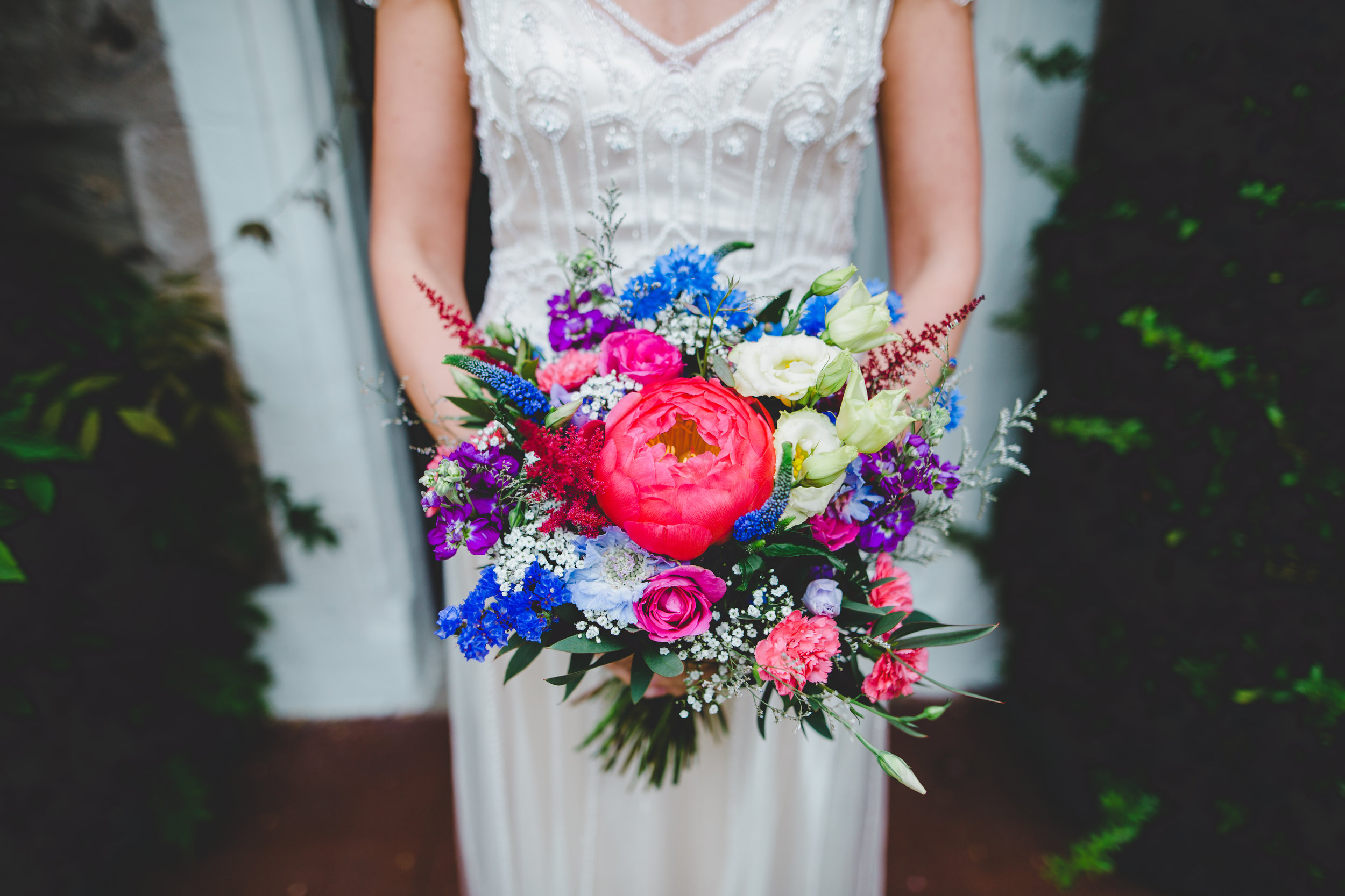colourful wedding at Hipping Hall Hotel