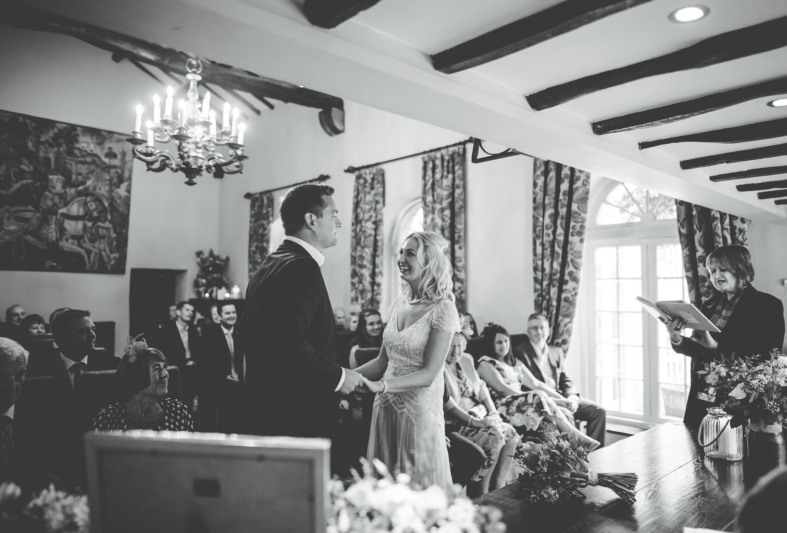 funny wedding ceremony - Lake District wedding photography