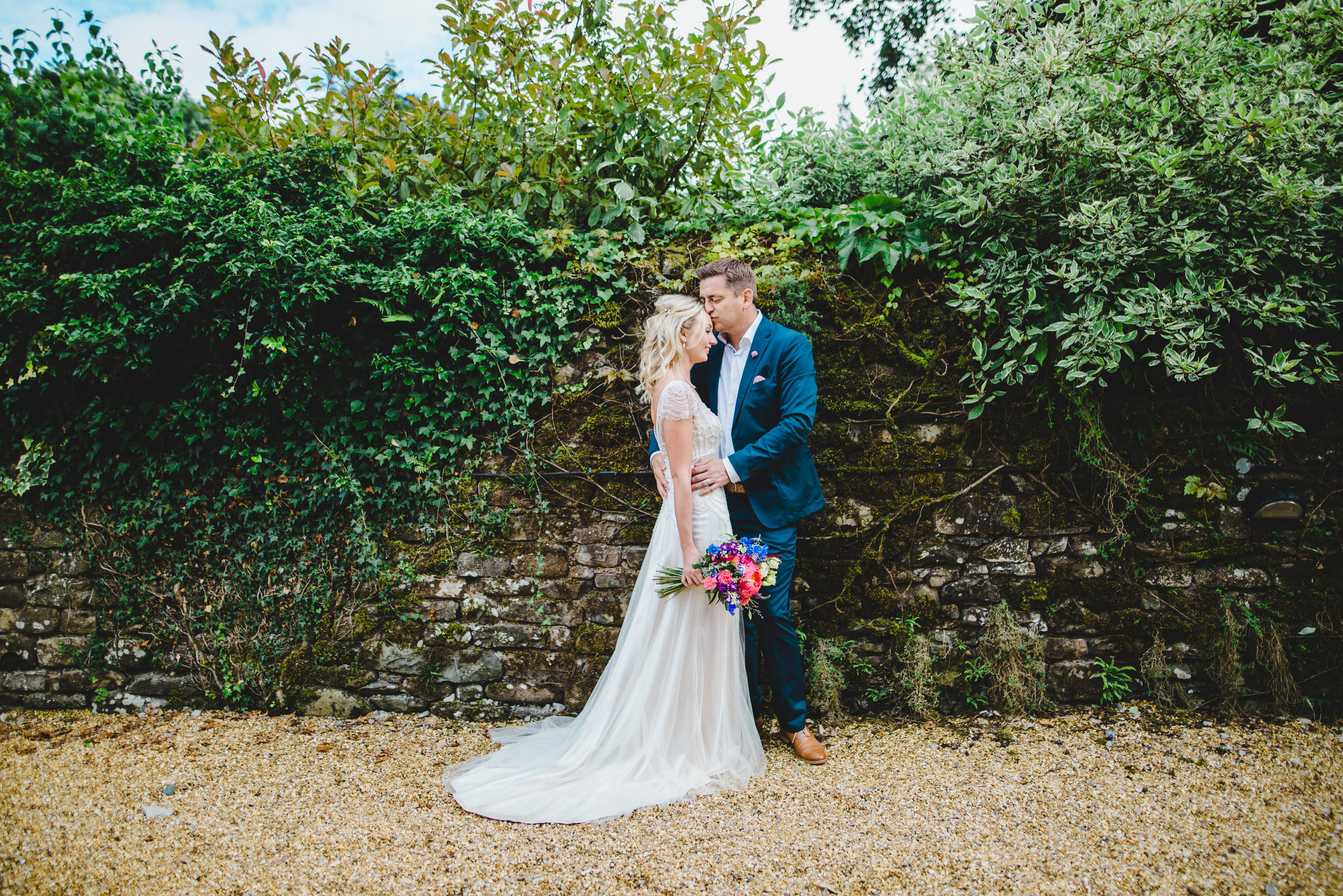 relaxed wedding pictures at Hipping Hall