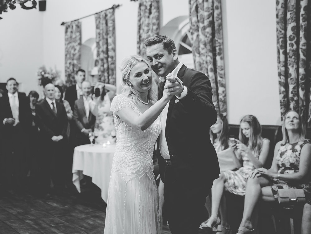 The first dance- black and white photography