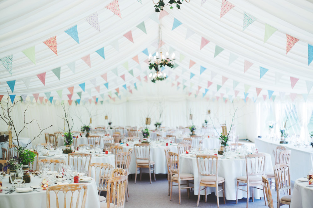 The interior decoration for the rustic vintage wedding at The Lake District