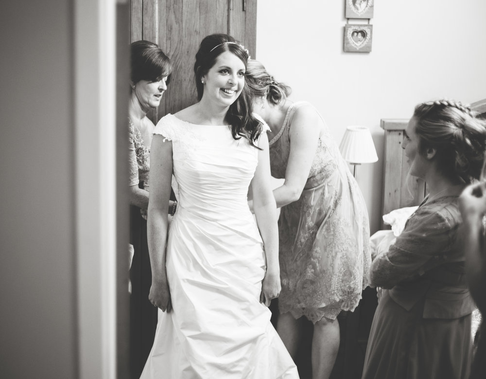 The bride ready in her dress- Documentary photography