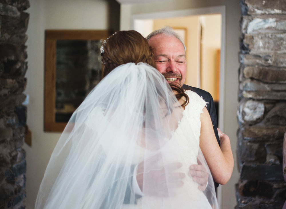 Hugs from the father of the bride- Lake district wedding, Hipping Hall