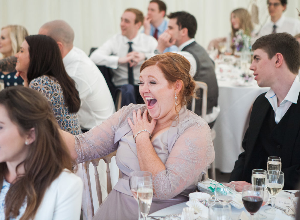 bug laughs from one of the bridesmaid- Vintage themed wedding