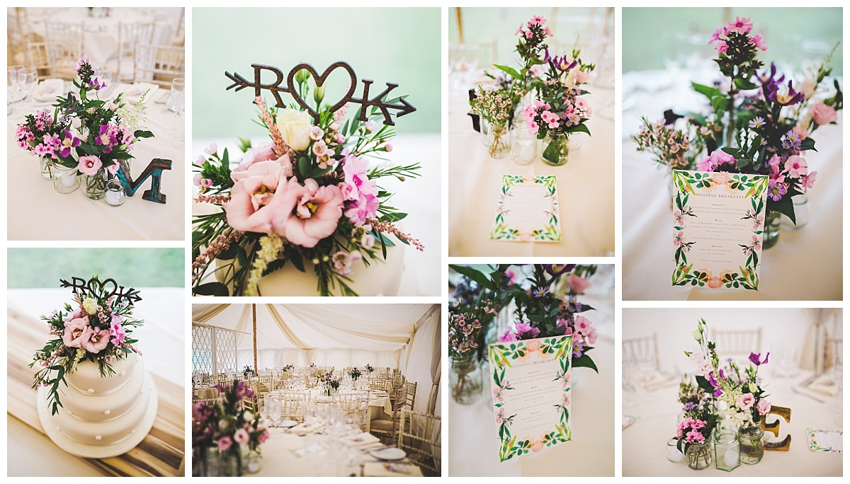 gorgeous wedding decor in Lancashire
