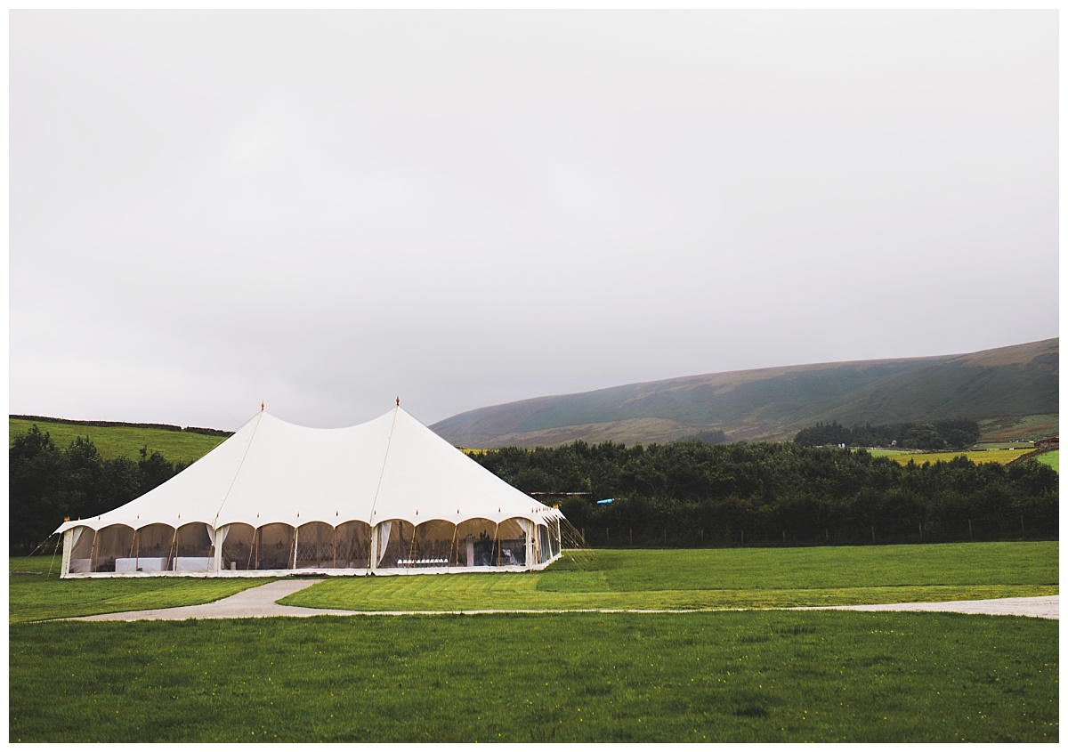 marquee wedding in Lancashire