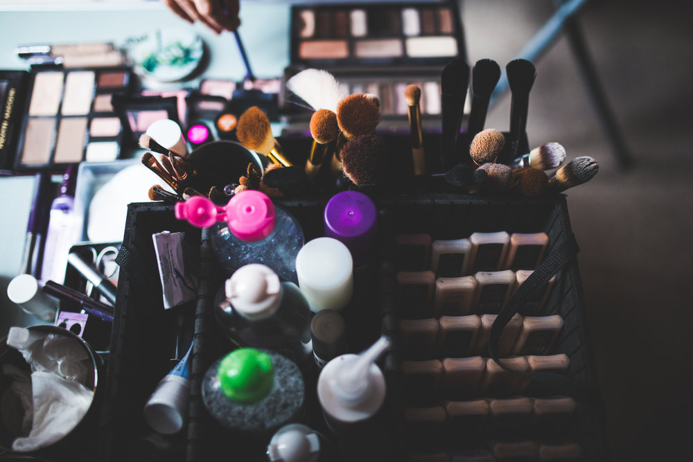 Makeup brushes- The Villa at Wrea Green Preston is the wedding venue of choice