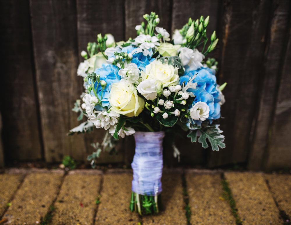 The brides flower bouquet- Lancashire wedding photographer