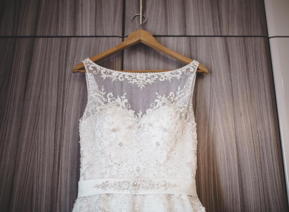 The bridal gown detail- The Villa at Wrea Green Preston