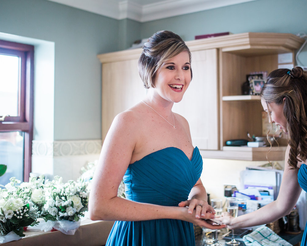 One of the bridesmaids- Documentary lancashire photography
