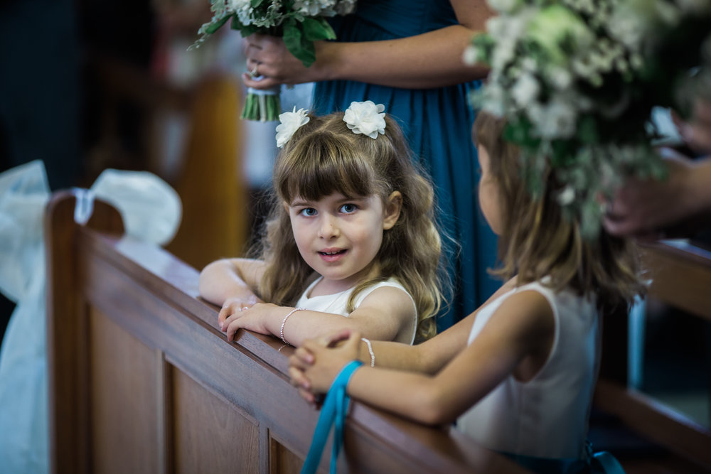 Two of the young flower girls- modern relaxed wedding