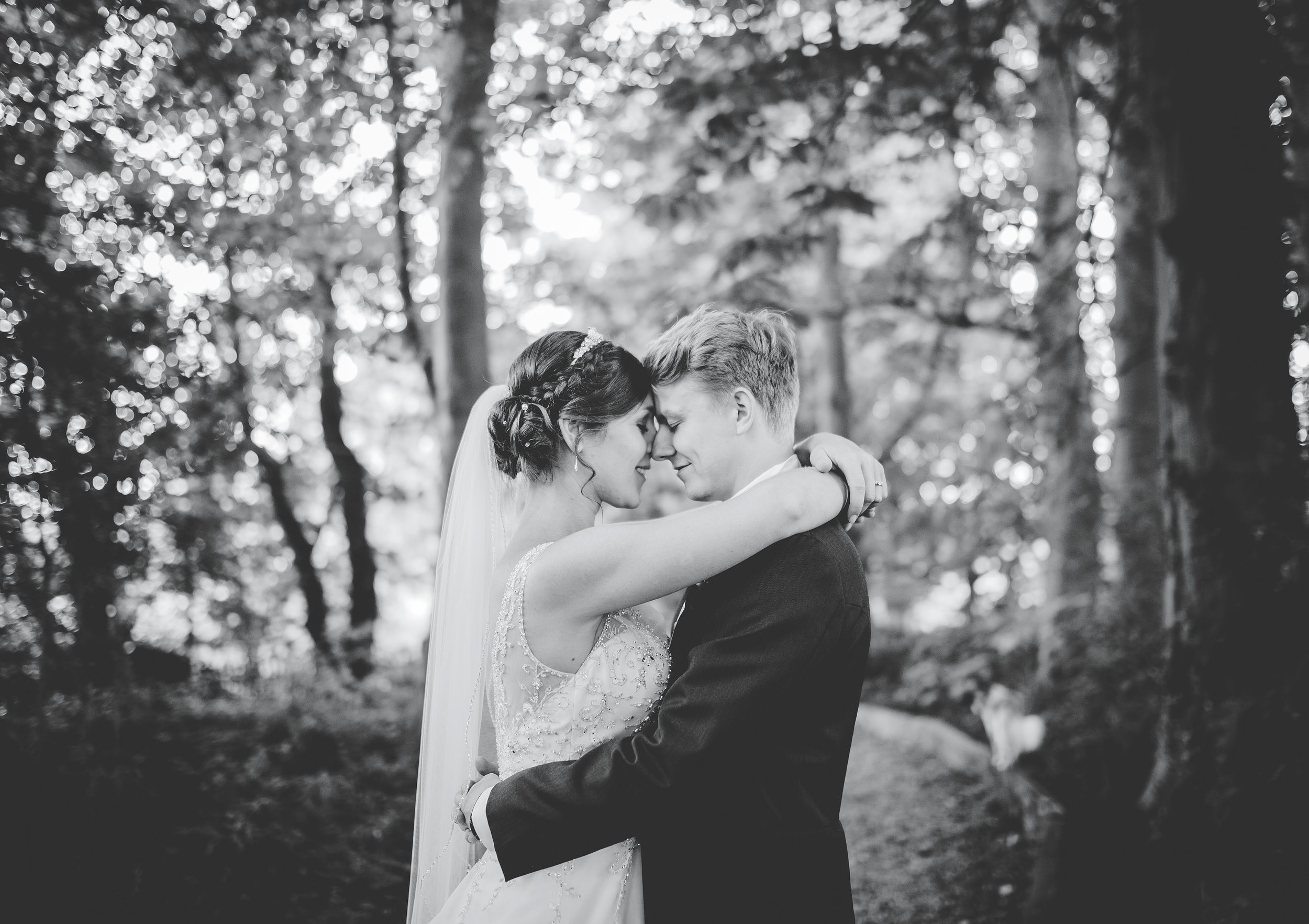 creative black and white wedding pictures Lancashire